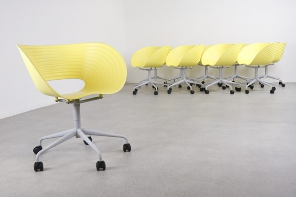 22 Tom Vac swivel office chairs by Ron Arad for Vitra, 1999