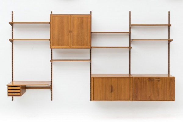Wall unit by Kai Kristiansen for Feldballes Mobelfabrik, Denmark 1960