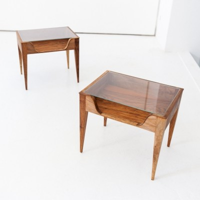 Pair of Italian Bedside Tables by F. lli Strada, 1950s