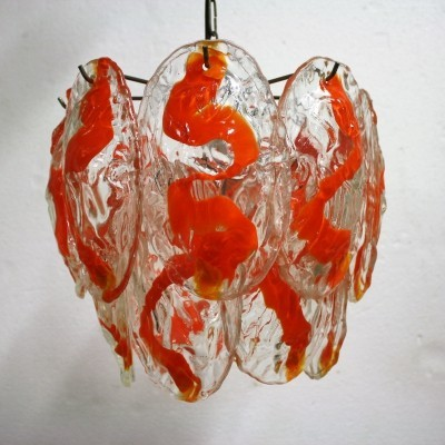 Vintage hand blown murano chandelier by La Murrina, 1960s