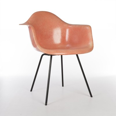 Original 1st Generation Zenith Eames Orange DAX Dining Arm Chair