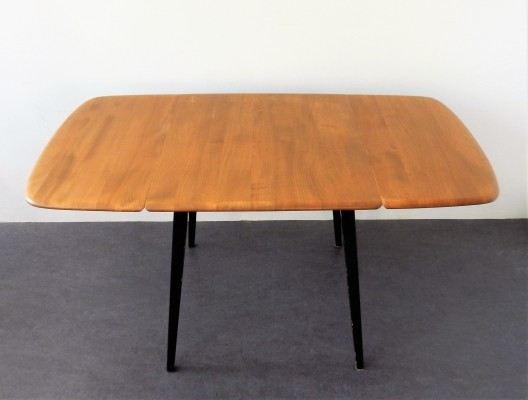 Model 383 drop-leaf dining table by Lucian R. Ercolani for Ercol, England 1960's