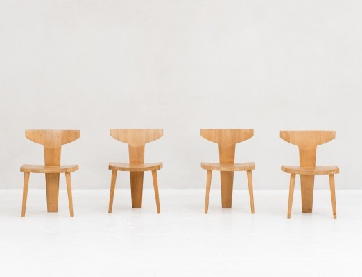 4 chairs by Jacob Kielland Brandt for I. Christiansen, Denmark 1960