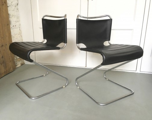 Pair of Biscia dinner chairs by Pascal Mourgue for Steiner, 1970s