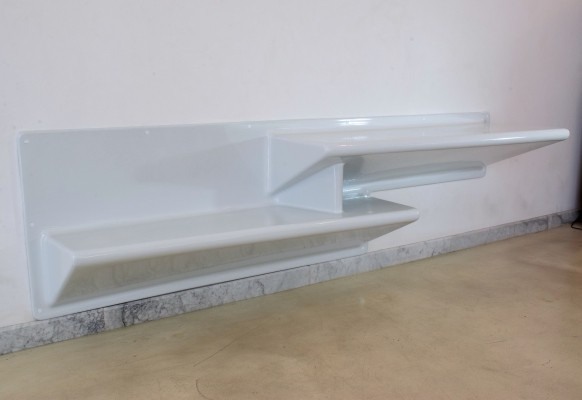 20th Century Vintage Fiberglass Shelf & Desk by Knoll
