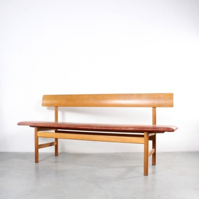 Model 3171 bench by Børge Mogensen for Fredericia Stolefabrik, 1960s