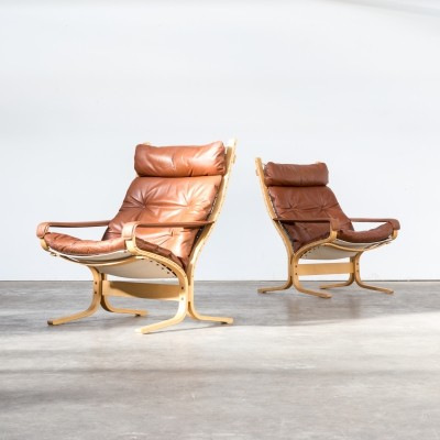 Pair of Ingmar Relling 'siesta' chairs for Westnofa, 1970s