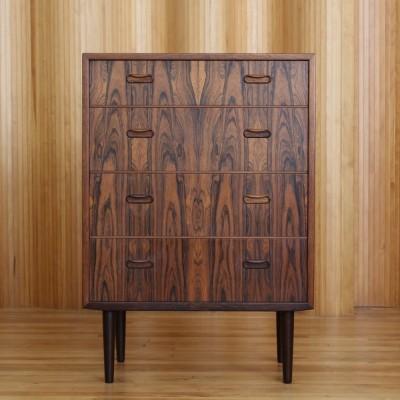 Danish rosewood chest of drawers / tallboy