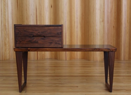 Aksel Kjersgaard rosewood hall bench & chest, Denmark 1950s