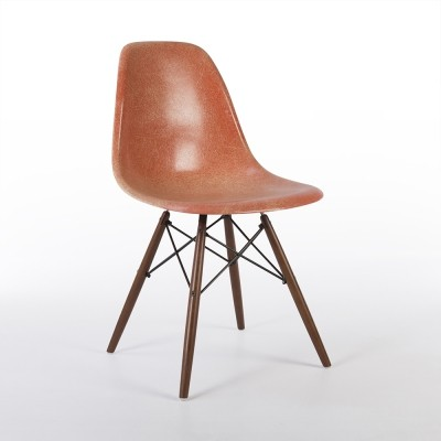 Original Zenith Salmon Eames DSW Dining Side Chair