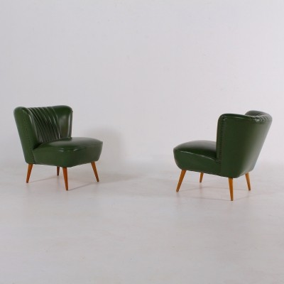 Pair of green cocktail chairs