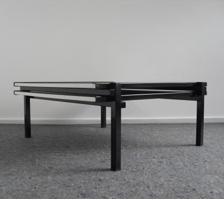 Postmodern Cubist Extendable Coffee Table, 1980's