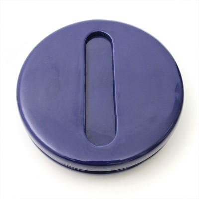 Blue ceramic ashtray by Pino Spagnolo for Sicart, 1960s