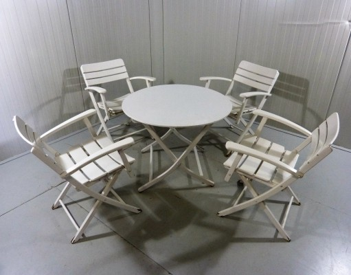 Retractable Garden Chairs & Table, 1960s
