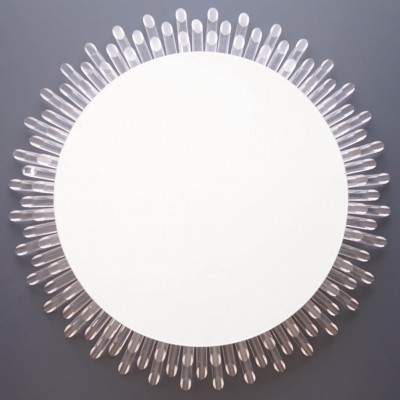 Vintage Sunburst Mirror with Backlighting