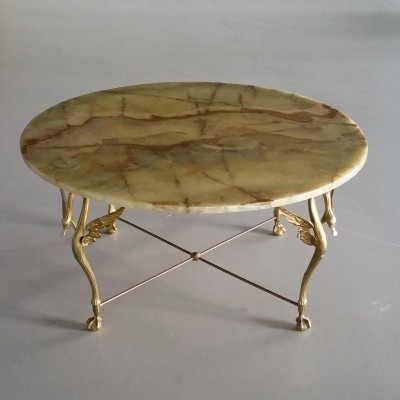 Onyx Topped Swan Coffee Table, 1960s