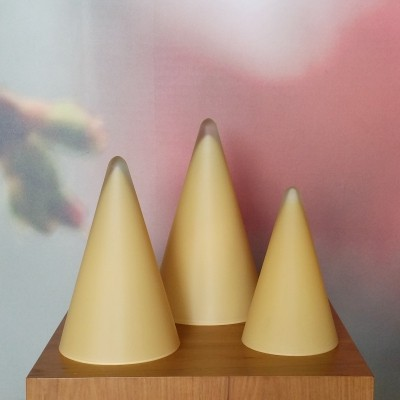 Set of 3 Teepee Table Lamps from SCE France, 1970s