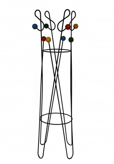 Vintage coloured coat stand by Roger Feraud, 1950s