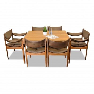 Vintage Kristian Vedel Danish design oak dining-set