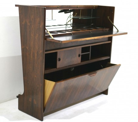 Mid-century rosewood dry bar by Johannes Andersen for J. Skaaning & Søn
