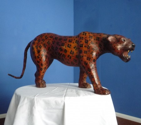 Antique Leather Leopard from the 1940s