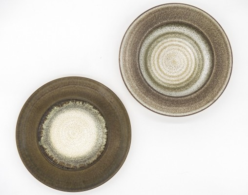 Set of 2 centerpieces by Nanni Valentini for Ceramica Arcore, 1970s