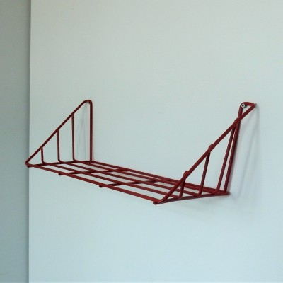 Highly rare red 'Delft' shelf by Constant Nieuwenhuys for 't Spectrum, 1956