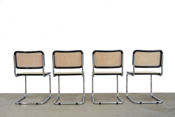 Set of 4 vintage Cesca design chairs by Marcel Breuer, Italy 1994