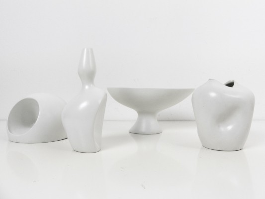 Set of 4 early 'vasi antropomorfi' & 'vasiforma' by Ambrogio Pozzi, 1950s