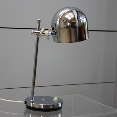 Desk lamp in chrome plated steel by Marboch Electric, 1960's