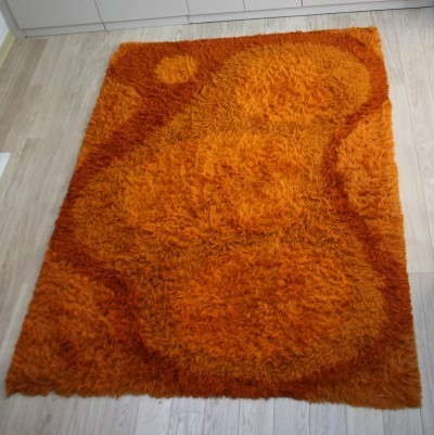Carpet of 100% wool in orange tones by Gilde Design, 1960's