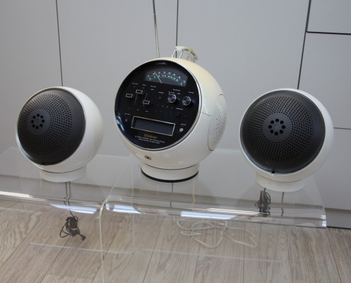 Model 2001 Space ball radio & speakers by Weltron, 1970s