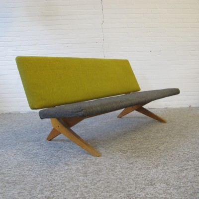 FB18 Scissor two seater sofa by Jan van Grunsven for Pastoe, 1950s