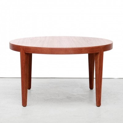 Round teak Severin Hansen Jr coffee table by Haslev Mobelfabrik for Bovenkamp