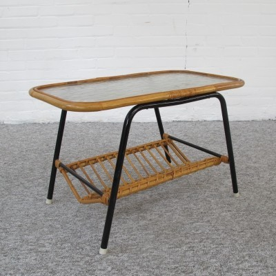 Rattan table by Rohé Noordwolde, 1960s