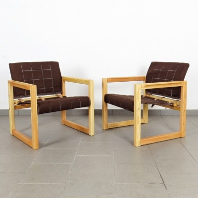 2 x Karin Mobring arm chair, 1970s