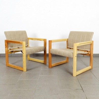 Pair of Karin Mobring arm chairs, 1970s