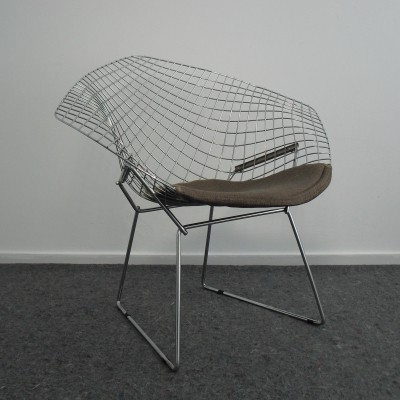 Chrome Diamond Chair by Harry Bertoia for Knoll, 1960's