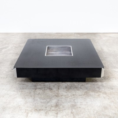 Square Willy Rizzo 'alveo' coffee table for Mario Sabot, 1970s