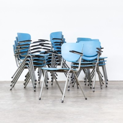 Set of 50 Metal dining chairs with armrest, 1950s