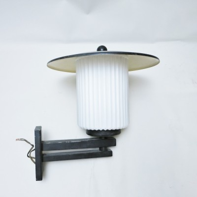 Lantern wall lamp by Lunel, 1950s