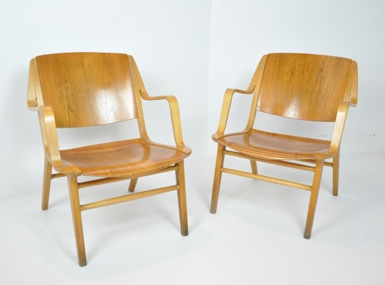 Pair of Ax Chairs by Peter Hvidt & Orla Molgaard Nielsen, 1960s