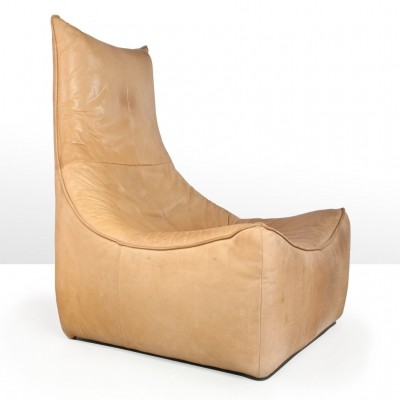 Leather Rock Brutalist lounge chair by Gerard van den Berg for Montis, 1970s