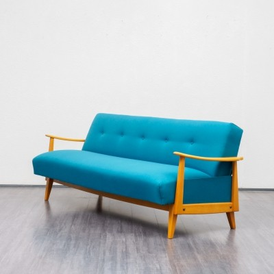 Sofa / daybed with blue fabric, 1950s