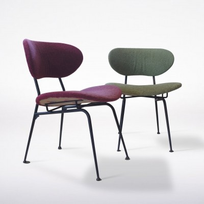 Pair of Mid-Century Modern Chairs by RIMA in Original Upholstery, 1950s