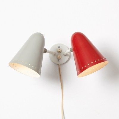 H. Busquet Wall Lamp for Hala, 1950s