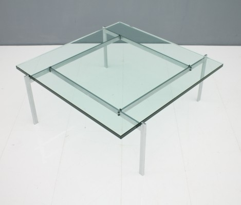 Poul Kjaerholm PK 61 Coffee Table in Steel & Glass by E. Kold Christensen Denmark