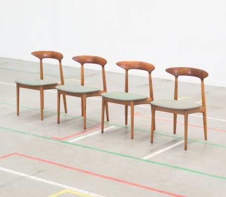 Set of 4 dining chairs by Kurt Østervig for Brande Møbelindustri, 1950s