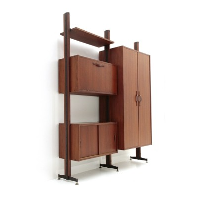 Italian mid century wall unit with cabinet, 1960s
