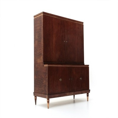 Modernist cabinet with copper details, 1940s